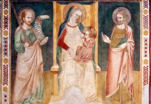 Affresco Madonna della Stella restaurato
