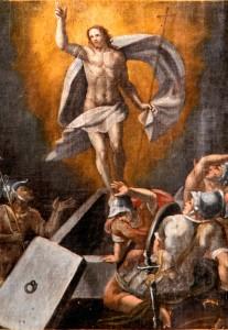 Resurrezione,Madonna del Rosario (particolare),Poggio di Croce (Preci), Chiesa dell'Annunziata